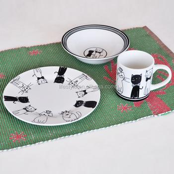 3pcs kids dinnerware set3pcs kids bowl and plate and mug setporcelain dinnerware & 3pcs Kids Dinnerware Set3pcs Kids Bowl And Plate And Mug Set ...