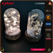 transparent glass dome LED acrylic inside for home decor