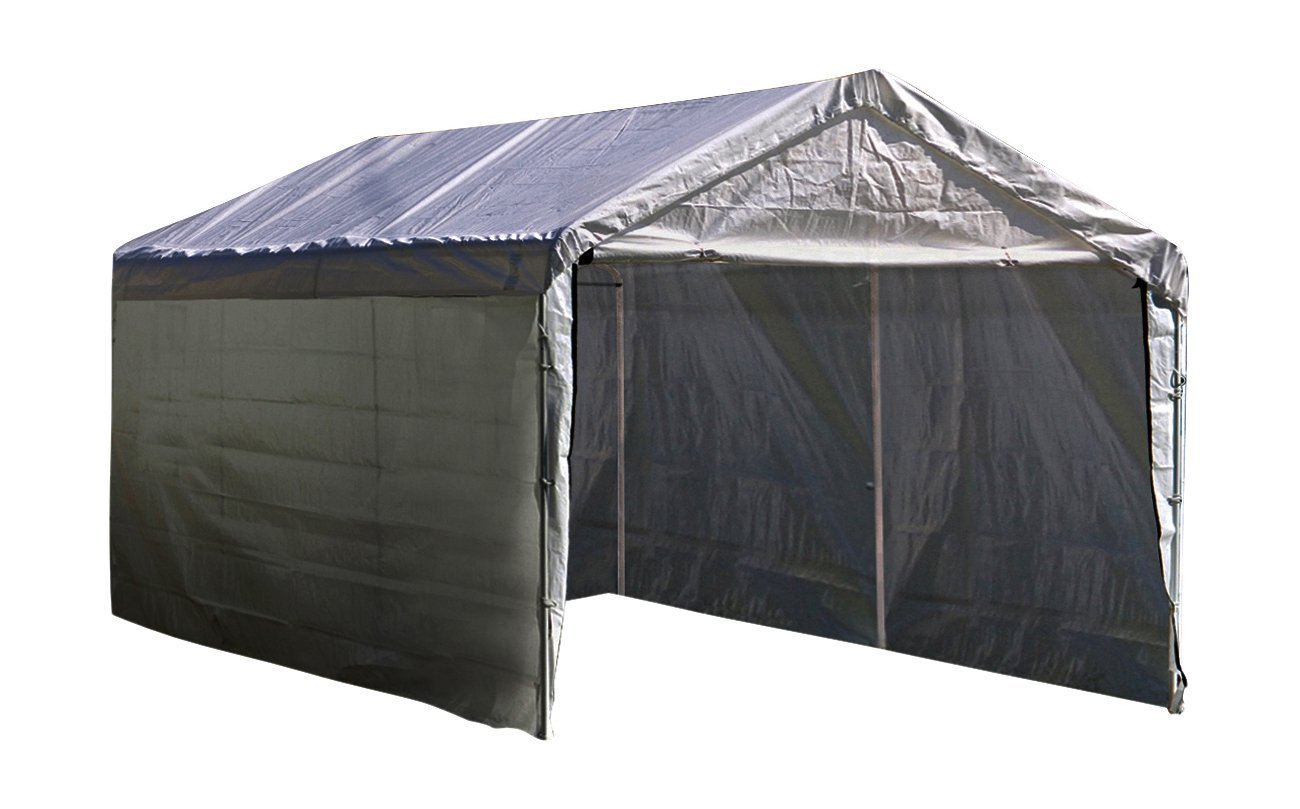 ShelterLogic Super Max 12 ft. x 20 ft. White Canopy Enclosure Kit, Canopy and Frame Sold Separately