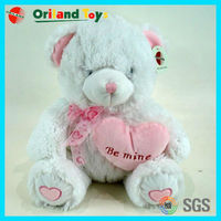 Best Quality plush bear with heart pattern