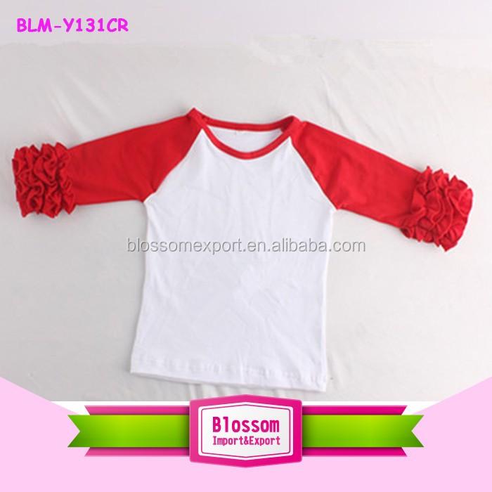c8c58f999da Wholesale Ruffle Raglan Sleeve Plain Blank Icing Raglan Unisex Shirts  custom t shirt printing clothes