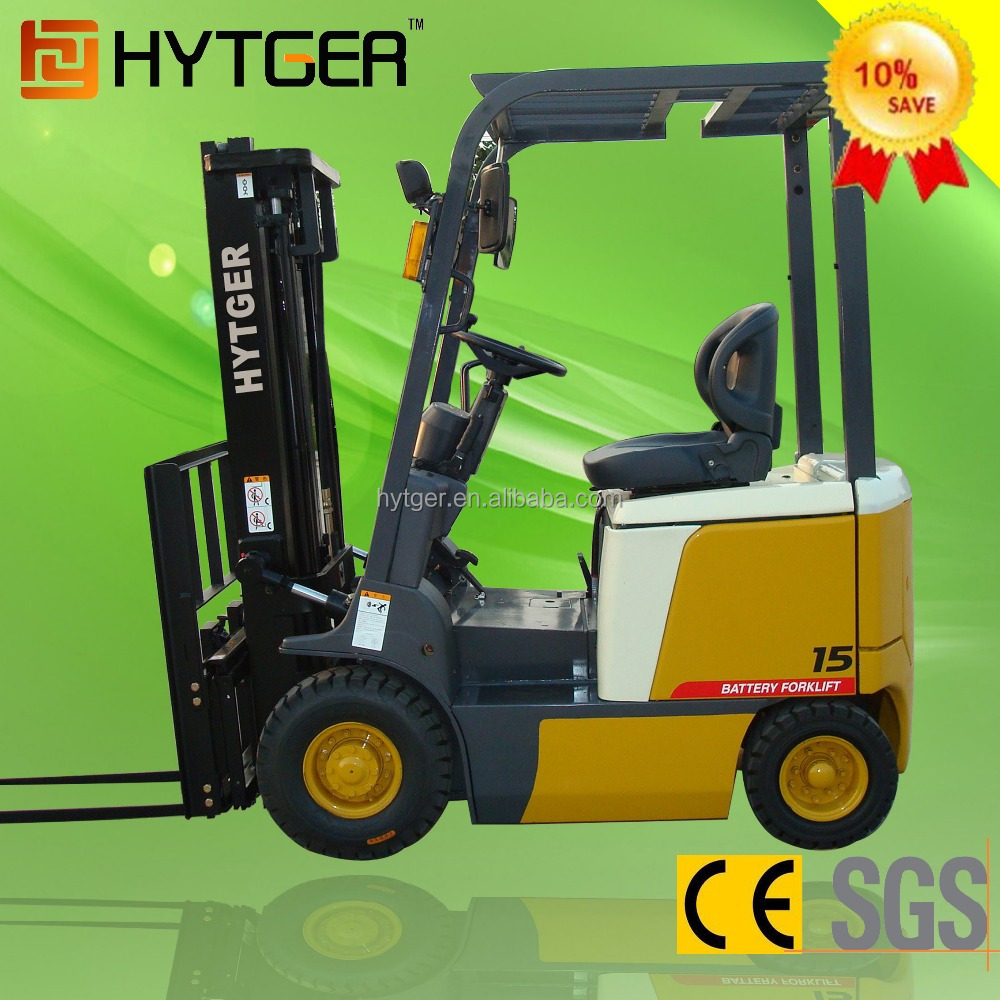 China 1.5Ton Electric Fork Lift with Forks