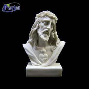 Hand carved stone man head marble bust statue for sale NTMS-337Y