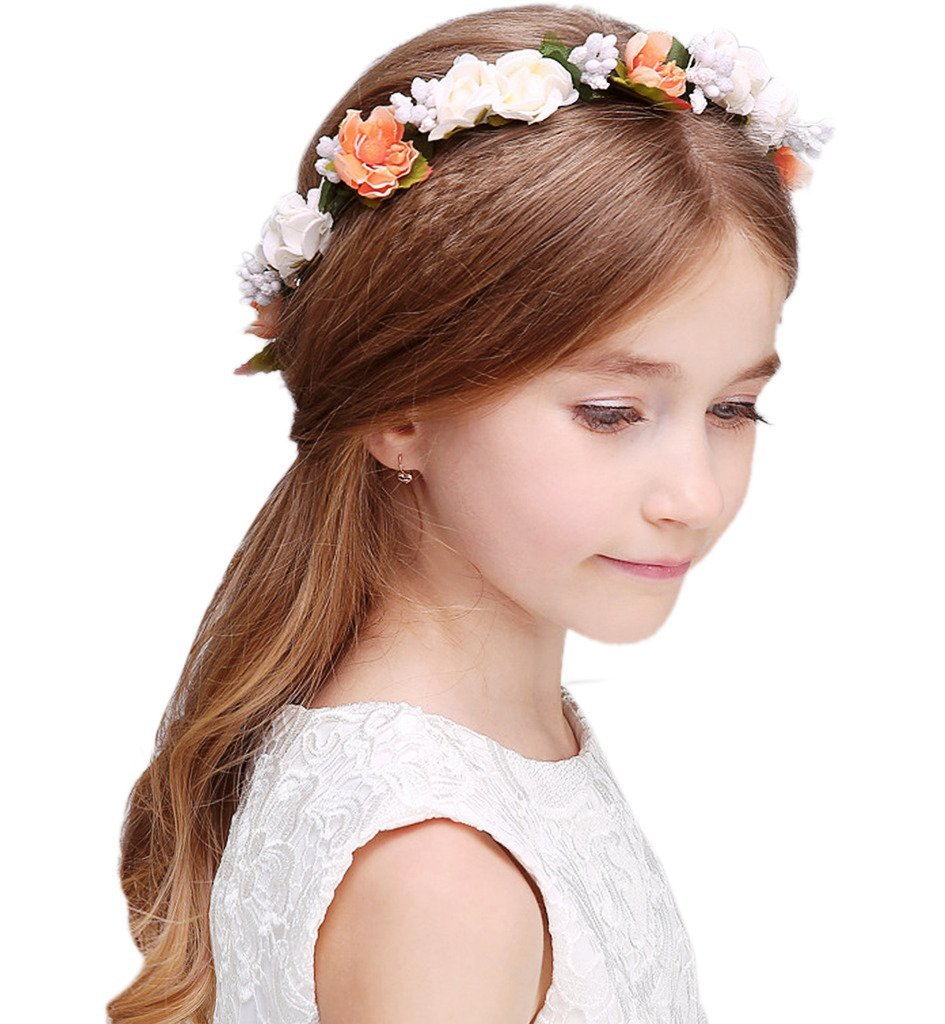 Buy sumolux flower crown floral hairband garland baby girls festival sumolux flower crown floral hairband garland baby girls festival party wedding holiday izmirmasajfo