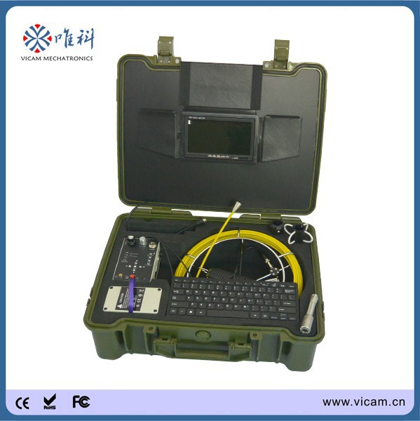 Hot product 20m fiberglass push rod underwater water well inspection camera for video inspection