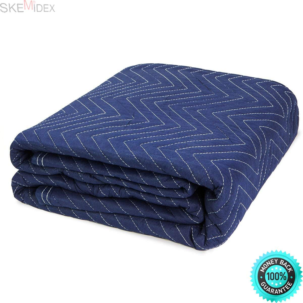 SKEMIDEX---(Lot 6) Heavy Duty Moving Blankets Padded Furniture Moving Pads Protection 65LBS And best moving blankets moving blankets uhaul moving blankets home depot cheap moving blankets moving