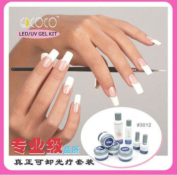 Gel Nails Art Nail Extension False French Manicure Kit 301w
