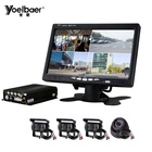 4CH H.264 AHD 720P SD Mobile DVR 128GB Vehicle MDVR CCTV Video Recorder Kit Camera System
