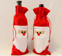 Hot New Christmas Red Wine Bottle Cover Bags Santa Clause Clothing Dinner Table Party Decors Santa Claus Christmas decoration