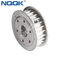 25 TOOTH HTD5M DOUBLE FLANGE TIMING PULLEY with custom mounting 6 holes