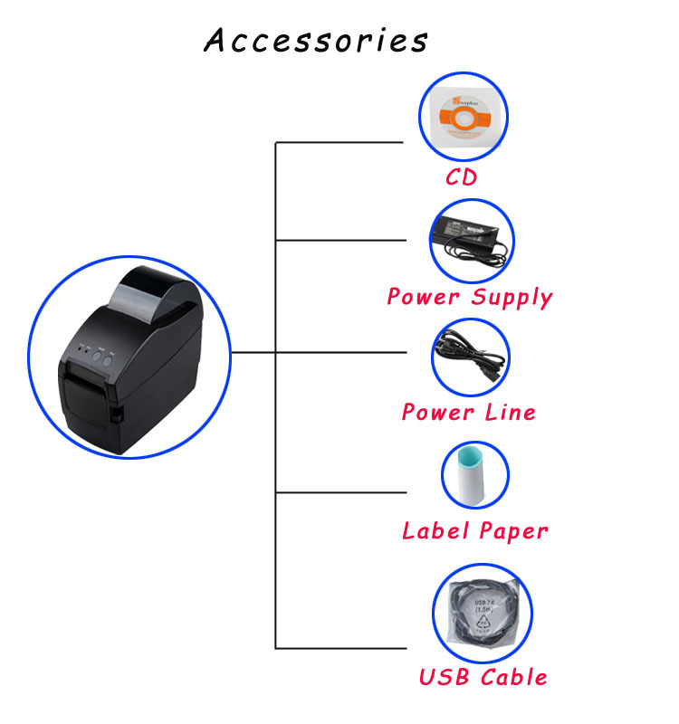 Pos 2 Inch Bill Printing Machine Like Xprinter 58mm Usb Thermal Receipt Printer And Lan Port