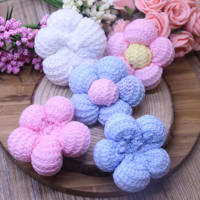 hand crochet candy color flowers