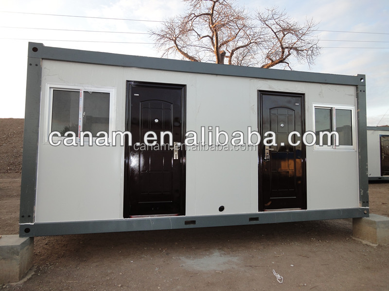 CANAM-Modular steel frame round log wooden house for sale