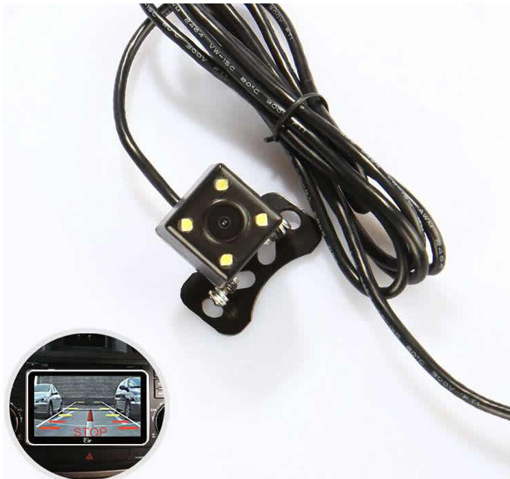 170 degree mini auto waterproof reverse camera WITH 4 led light
