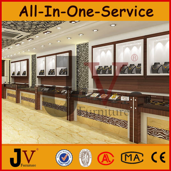 Modern Indian Style Jewellery Showroom Interior Display Designs