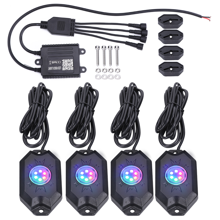 App bluetooth rgb rock light 4 schoten 8 schoten angeln led rock light