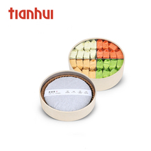 food grade acrylic lid round paper tube packaging gift box for tea bird's nest