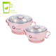 LULA 250ml 400ml Detachable Double Wall Baby Suction Bowl Set Silicon With Handle
