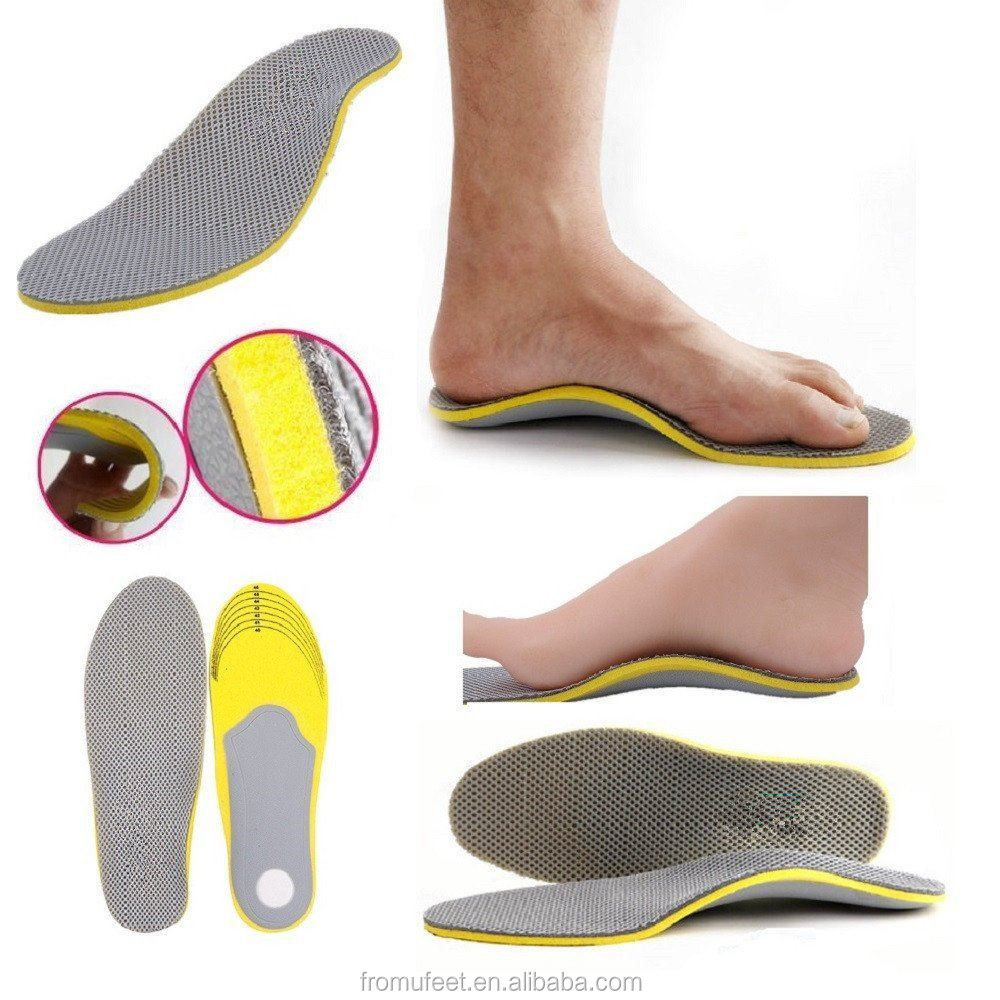 909f90d5ac ZRWE15 Orthotic Flat Feet Foot High Arch Heel Support Shoe Inserts Insoles  Pads,eva memory