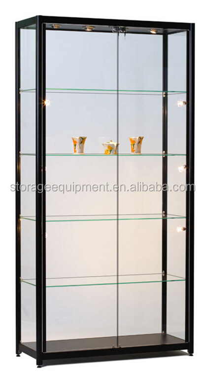 Luxury store used glass showcases for promotion gift