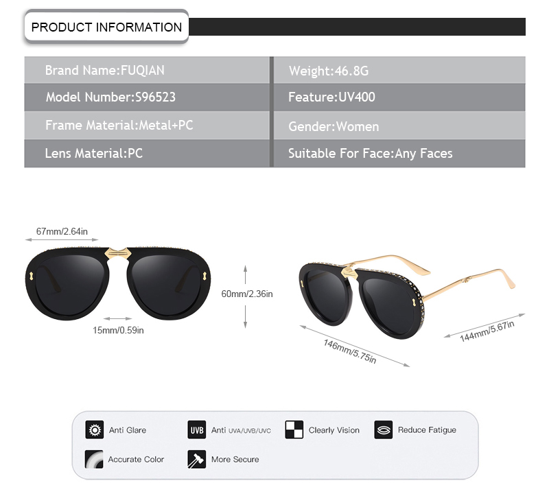 women women sunglasses customized for women-5