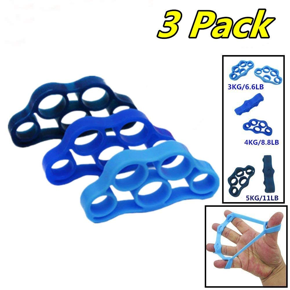 FRH Hand Resistance Bands Finger Exerciser Stretcher, Hand Extensor Exerciser, Silicone Finger Grip trainer is great for Rehabilitation Relieve Joint Pain, Injury Stress Relaxation