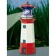 New Arrival Handmade Polyresin Decoration Solar Lighthouse For Sale
