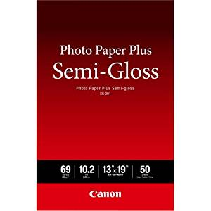 "Canon Photo Paper Plus Semi-Gloss Sg-201 - Semi-Gloss Photo Paper - 10.2 Mil 13 In X 19 In - 50 Sheet(S) - For Pixma Ip3680, Ip4820, Ip4850, Mg8250, Mp198, Mp228, Mp245, Mp252, Mp258, Mp280, Mp476 ""Product Type: Supplies & Accessories/Paper Supplies"""