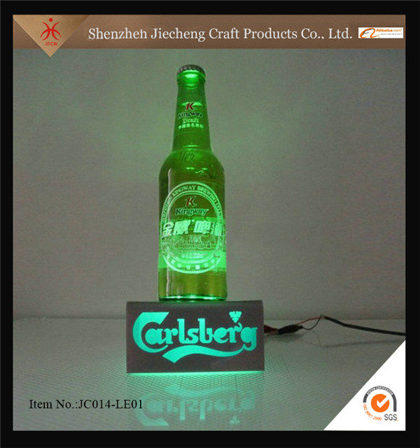 Jiiecheng elegant OEM ODM supermarket led bottle display