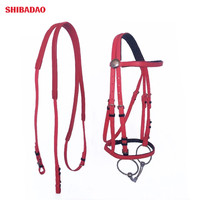 Horse Riding Racing In Coated Nylon Material Horse Equipment Bridle And Rein Set