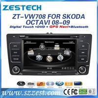 ZESTECH brand new OEM car stereo for VW Skoda Octavia 2 din car radio with navigation China bluetooth TV tuner