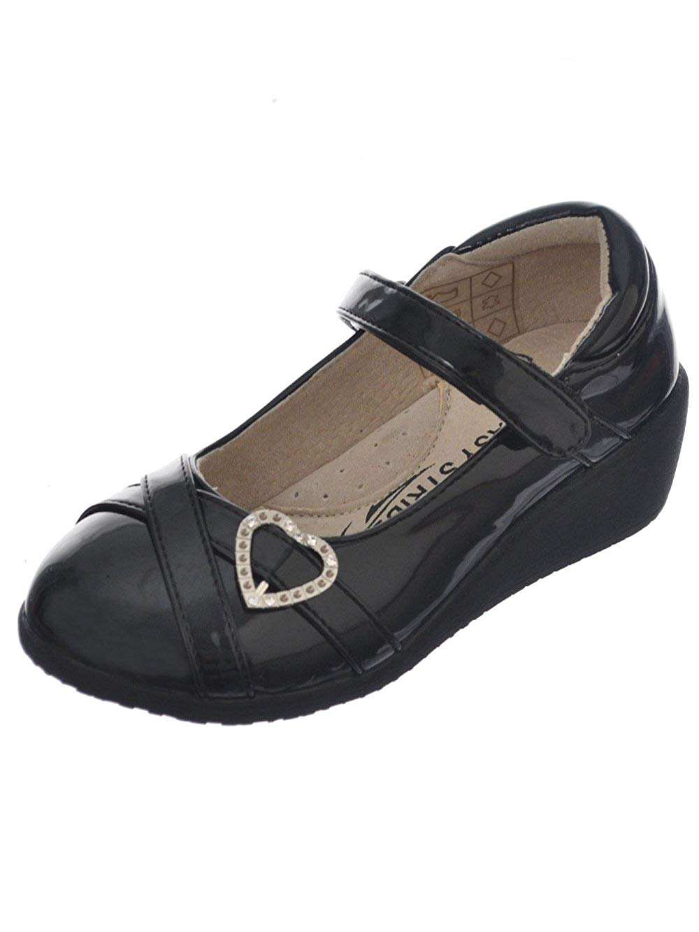 Easy Strider Girls' Patent-Strapped Heart Mary Janes