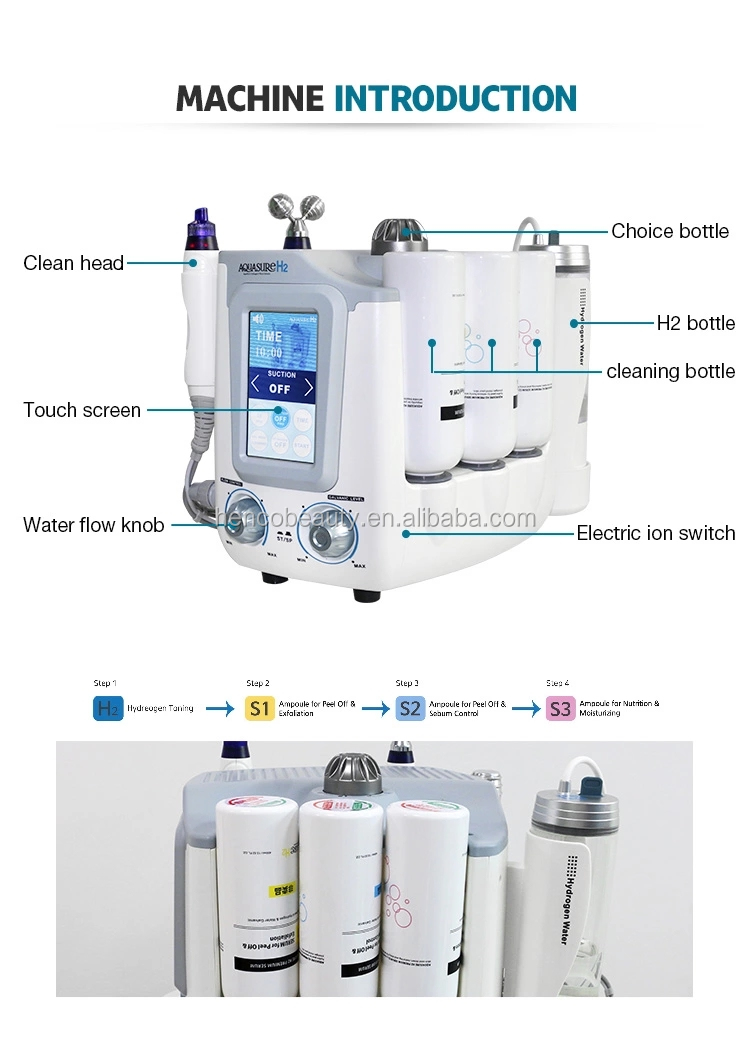 Hydrogen water dermabrasion portable aquasure H2 machine for skin rejuvenation aquasure H2 device