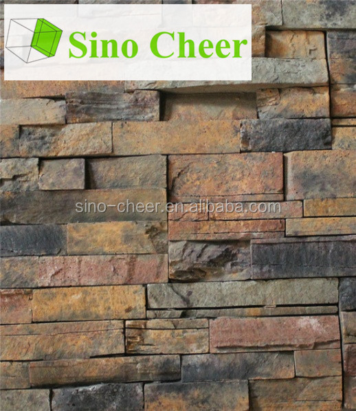 Exterior wall decoration stone tile faux brick panels