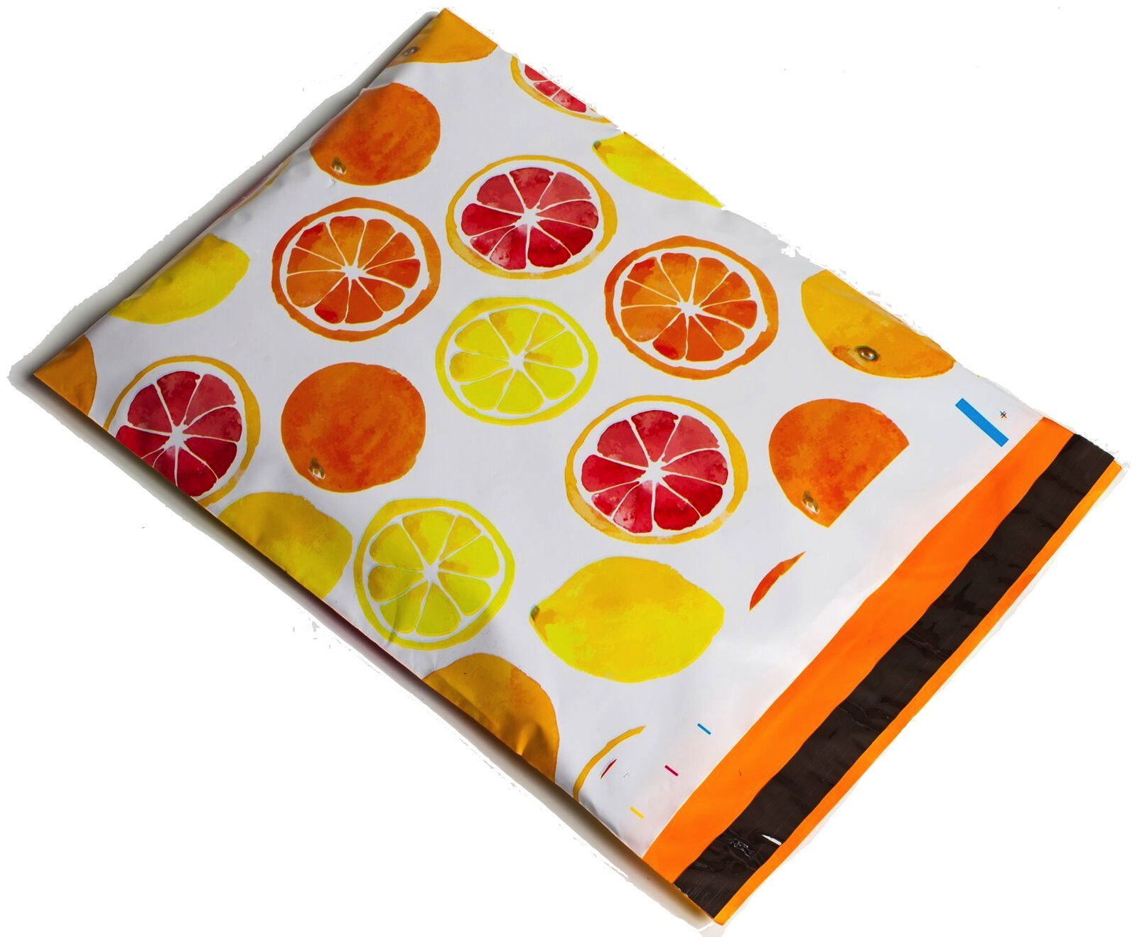 Poly Mailers Citrus Designer Mailers Shipping Envelopes Yellow & Orange Boutique Custom Bags #SmileMail (100 10x13)