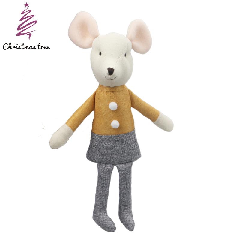 Плюшевая детская игрушка, милые Мультяшные плюшевые игрушки, рождественский подарок, детские игрушки, мягкая плюшевая кукла maileg mouse, плюшев...(Китай)