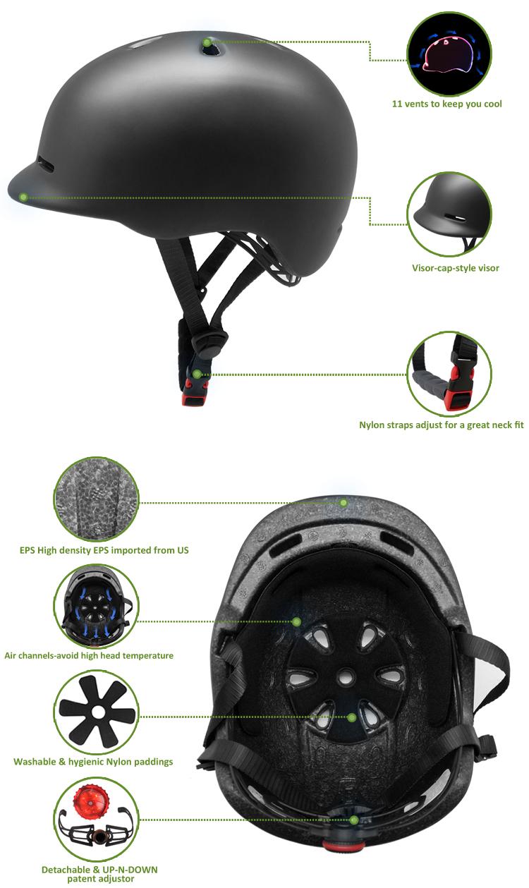 New product black matte city bike helmets 5