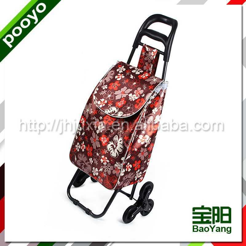 european style trolley shopping cart 3 wheels airport luggage trolley