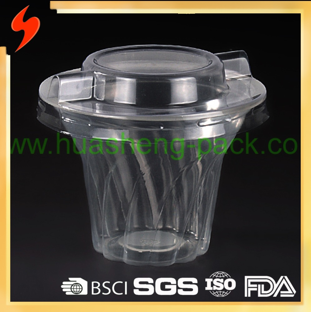 Promotional High Quality 200ml PP Clear Plastic Disposable Dessert Cup