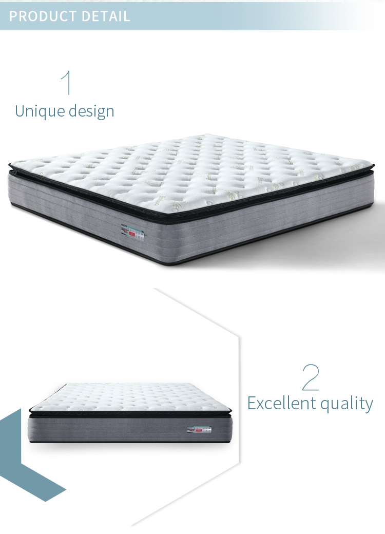 Factory Direct Wholesale Bamboo Knitted Fabric Pocket Sprung Mattress in a box