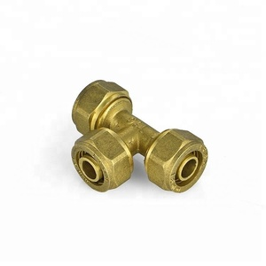 IFAN good quality low price hollow side wall elbow nickel plated brass press fittings for pipes U type serie 120