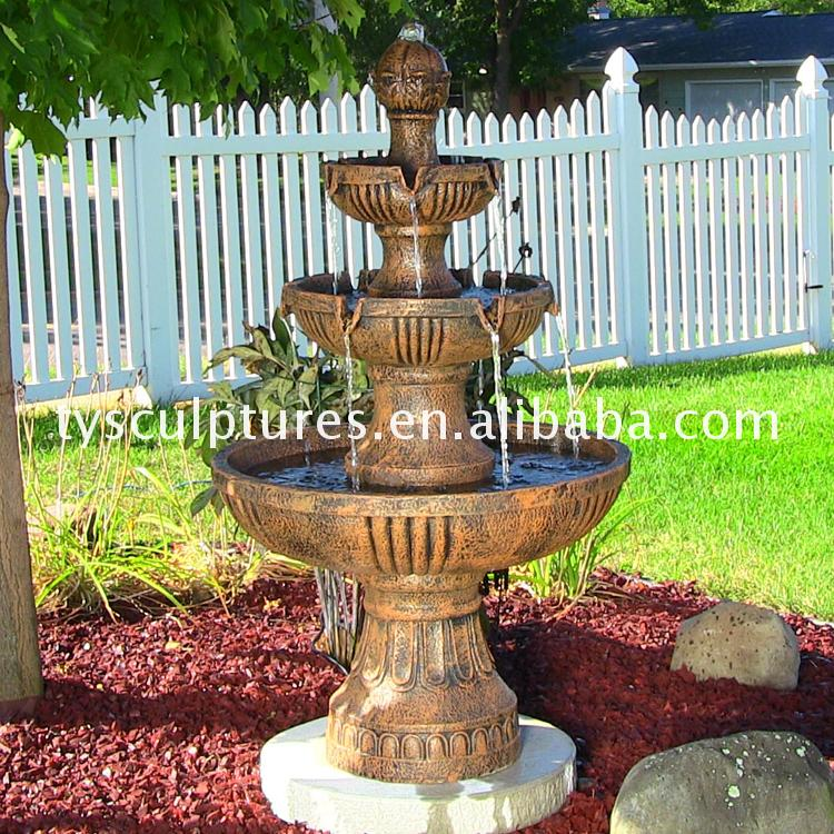 China custom tier stone fountain for garden and ponds