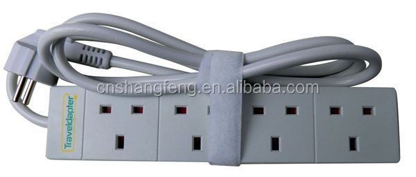 Uk To European Travel Adapter Extension Socket Cable Lead 2 Pin ...