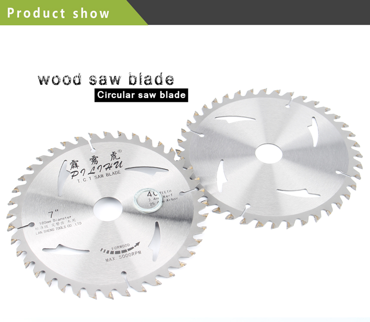 7Inch 40T TCT Circular Saw Blades For Cutting Tools