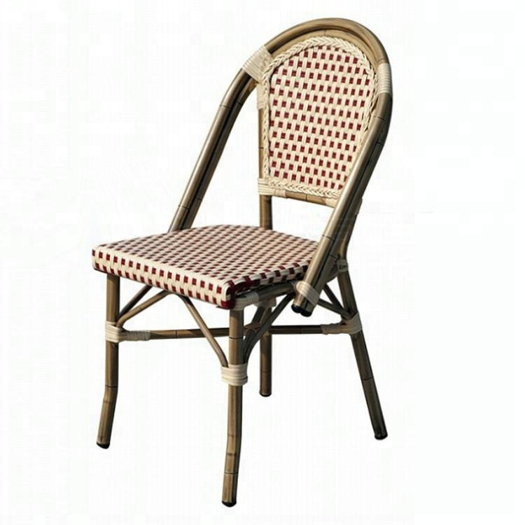 Outdoor restaurant dining PE woven rattan side chair