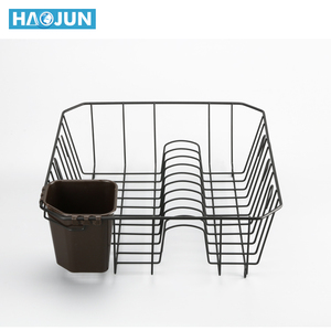 Kitchen stainless steel metal wire small storage dish drainer drying rack holders