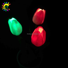 Novo Design Brilham no Escuro LED Tulip Artificial Com Pot