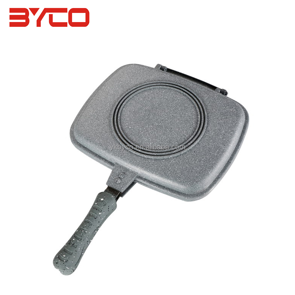 DDF-AS Non-stick Colorful Die Casting Double Grill Pan