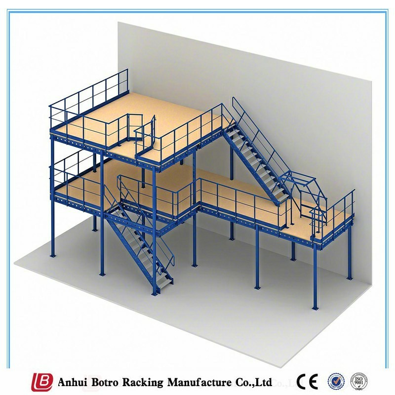 Pallet Rack Supported Steel Mezzanine Floor Pigeon Rack