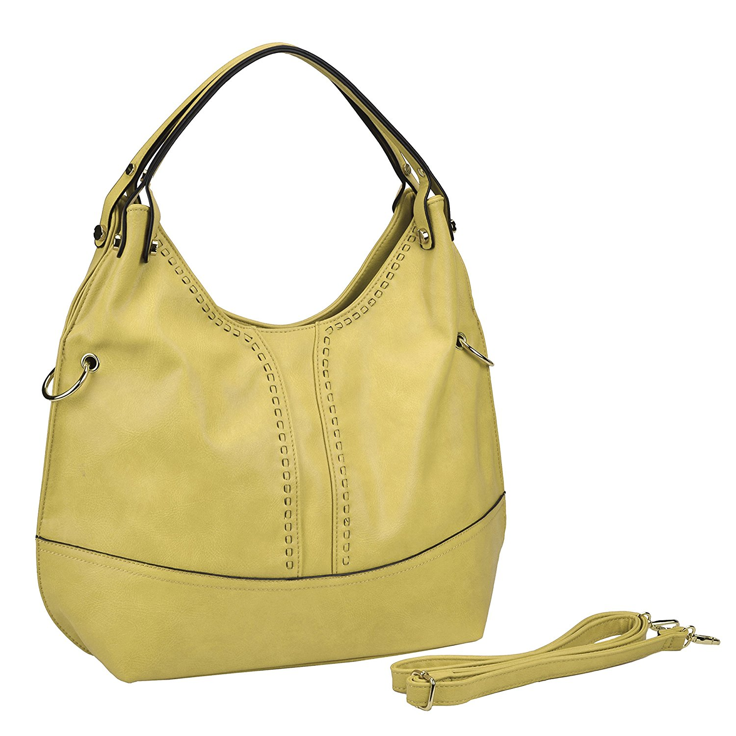 a2b5fe47f1 Get Quotations · MG Collection Double Top Handle Large Slouchy Hobo Purse  Crossbody Handbag